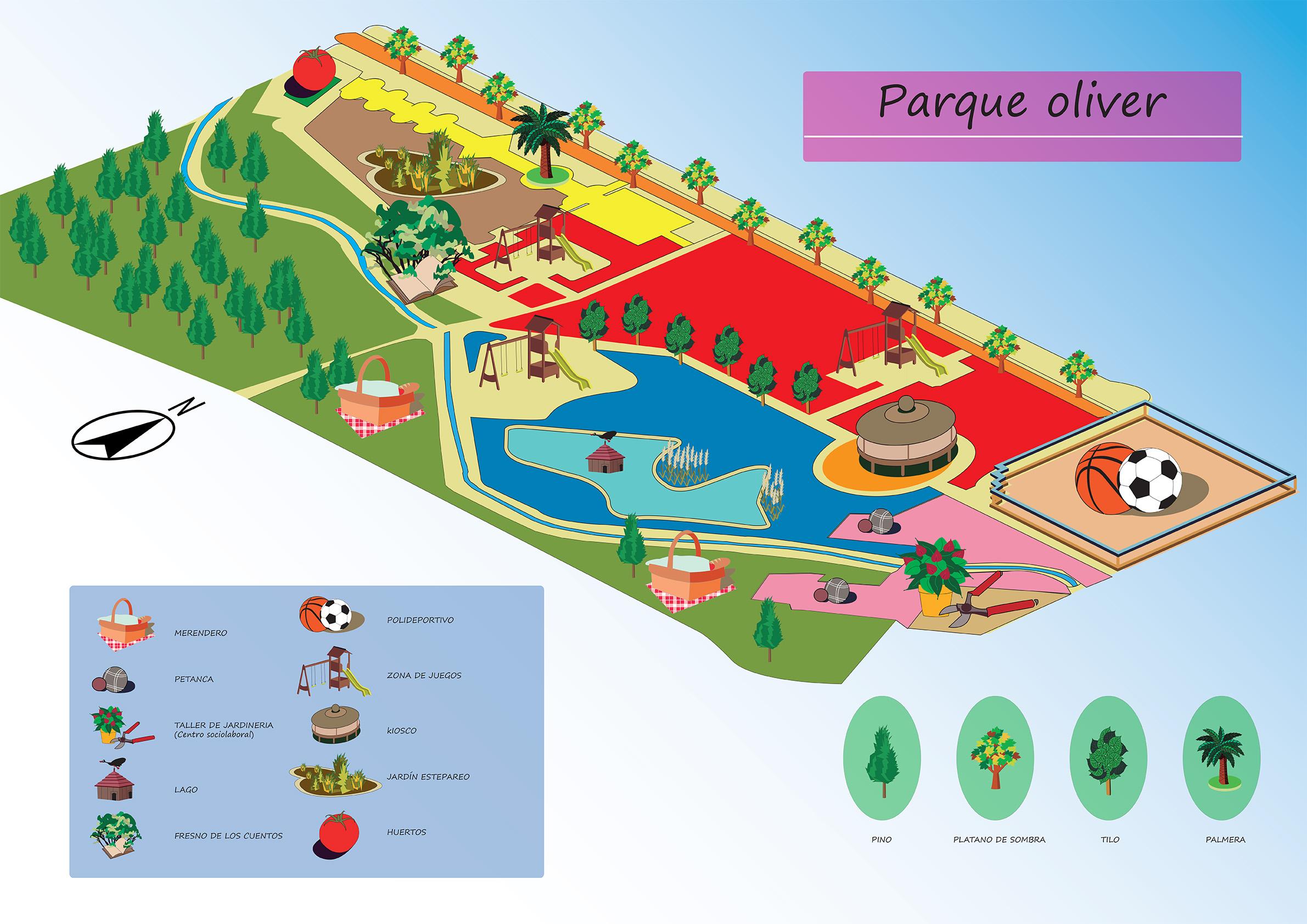 Escuela superior de dise o de arag n proyecto plano del for Para desarrollar un parque ajardinado