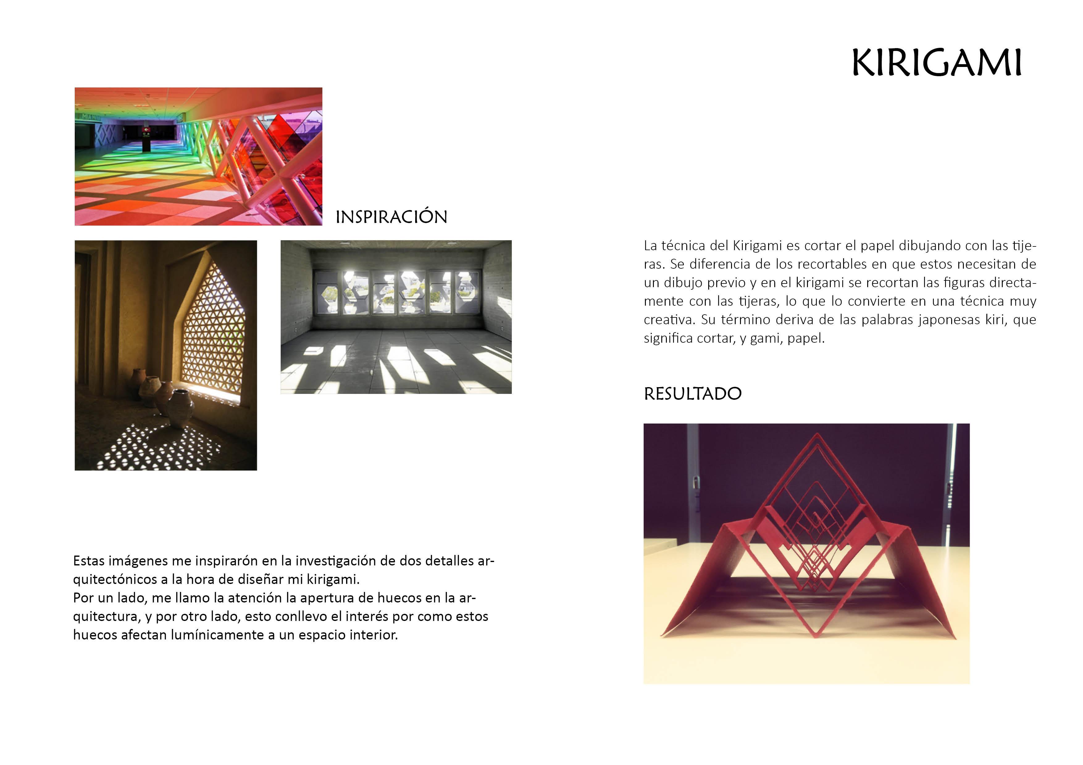 Escuela superior de dise o de arag n proyecto kirigami for Escuela superior de diseno