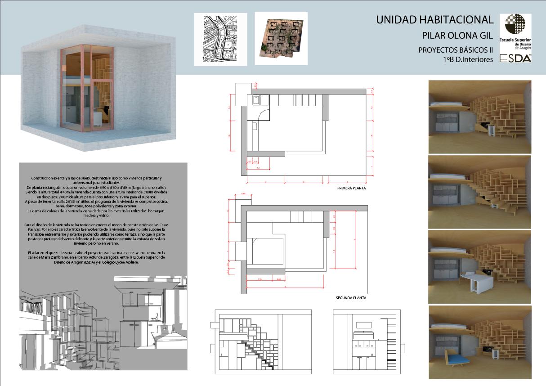 Escuela Superior de Diseño de Aragón · Proyecto UNIDAD HABITACIONAL