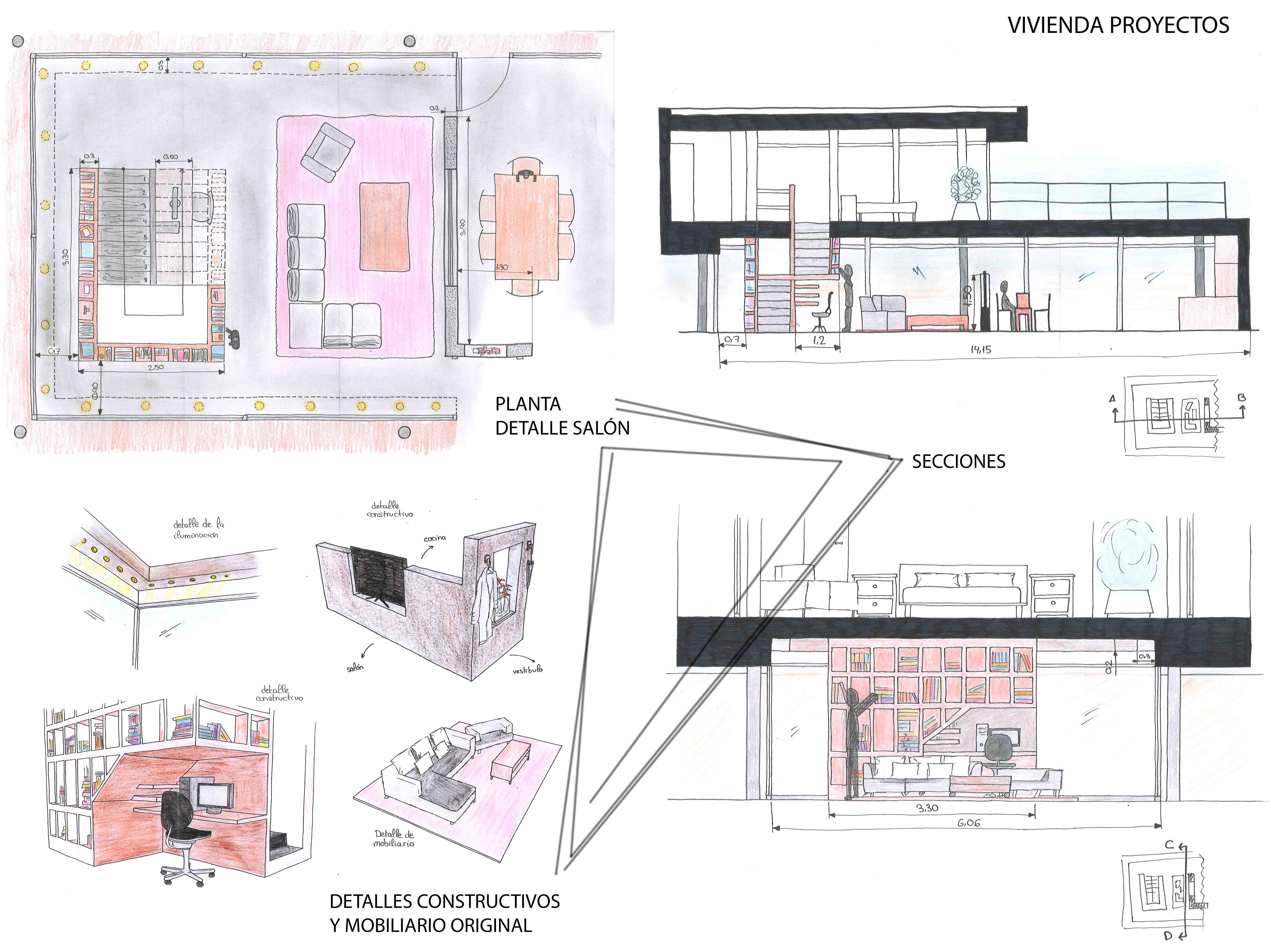 Escuela superior de dise o de arag n proyecto house - Proyecto diseno de interiores ...